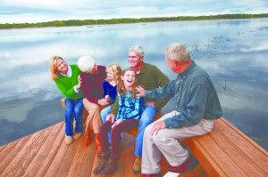 Portrait of multi-generation family